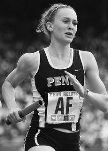 anna track penn relays_black & white