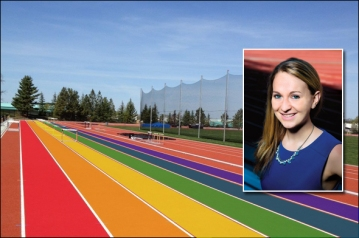 nike summit rainbow track by brett hoover